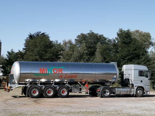 V2A Lebensmittel Tankcontainer der Spedition MINOR